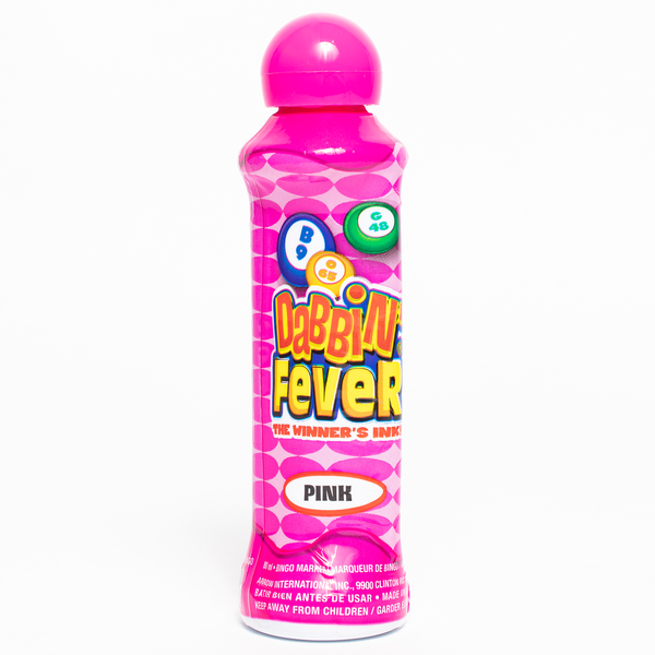 Dabbin' Fever Bingo Daubers - Pink Ink Markers - 3 ounce size bottle - Jackpot Bingo Supplies
