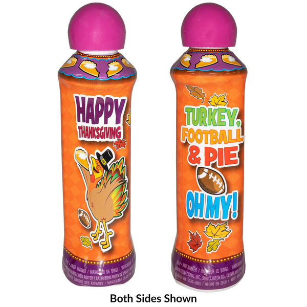 Thanksgiving Day Bingo Dauber - Purple Ink Markers - 3 ounce size bottle - Jackpot Bingo Supplies