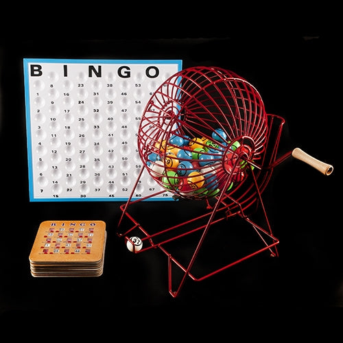 Bingo Cage Set with Shutter Cards - Bingo Equipment - Jackpot Bingo Supplies