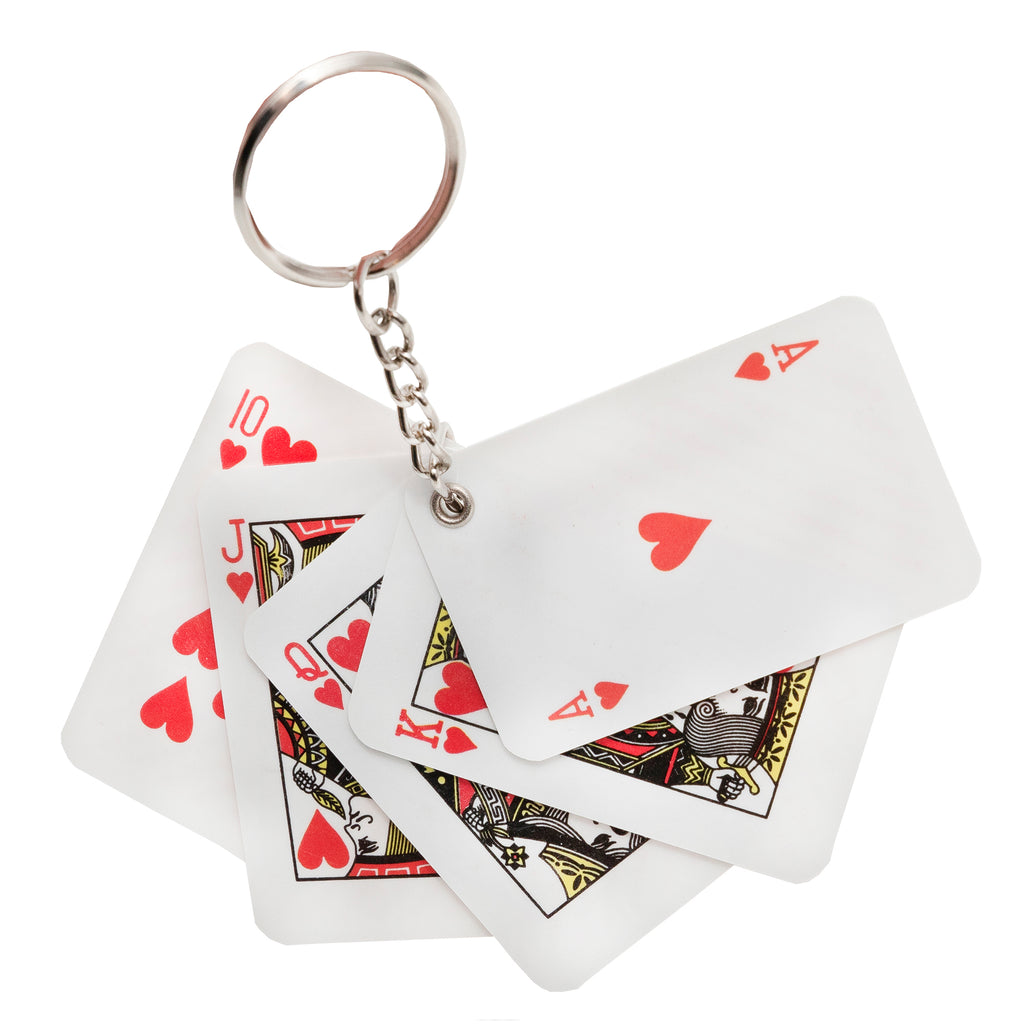 Royal Flush Keychain - Bingo Accessories - 12 per pack - Jackpot Bingo Supplies