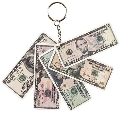 Money Key Chain - 12 per pack - Bingo Accessories - Jackpot Bingo Supplies