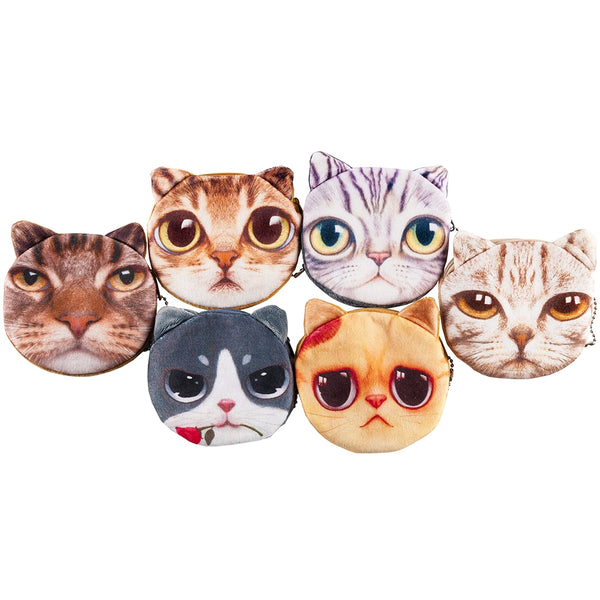 Cat Coin Purse - Bingo Accessories - 12 per pack - Jackpot Bingo Supplies