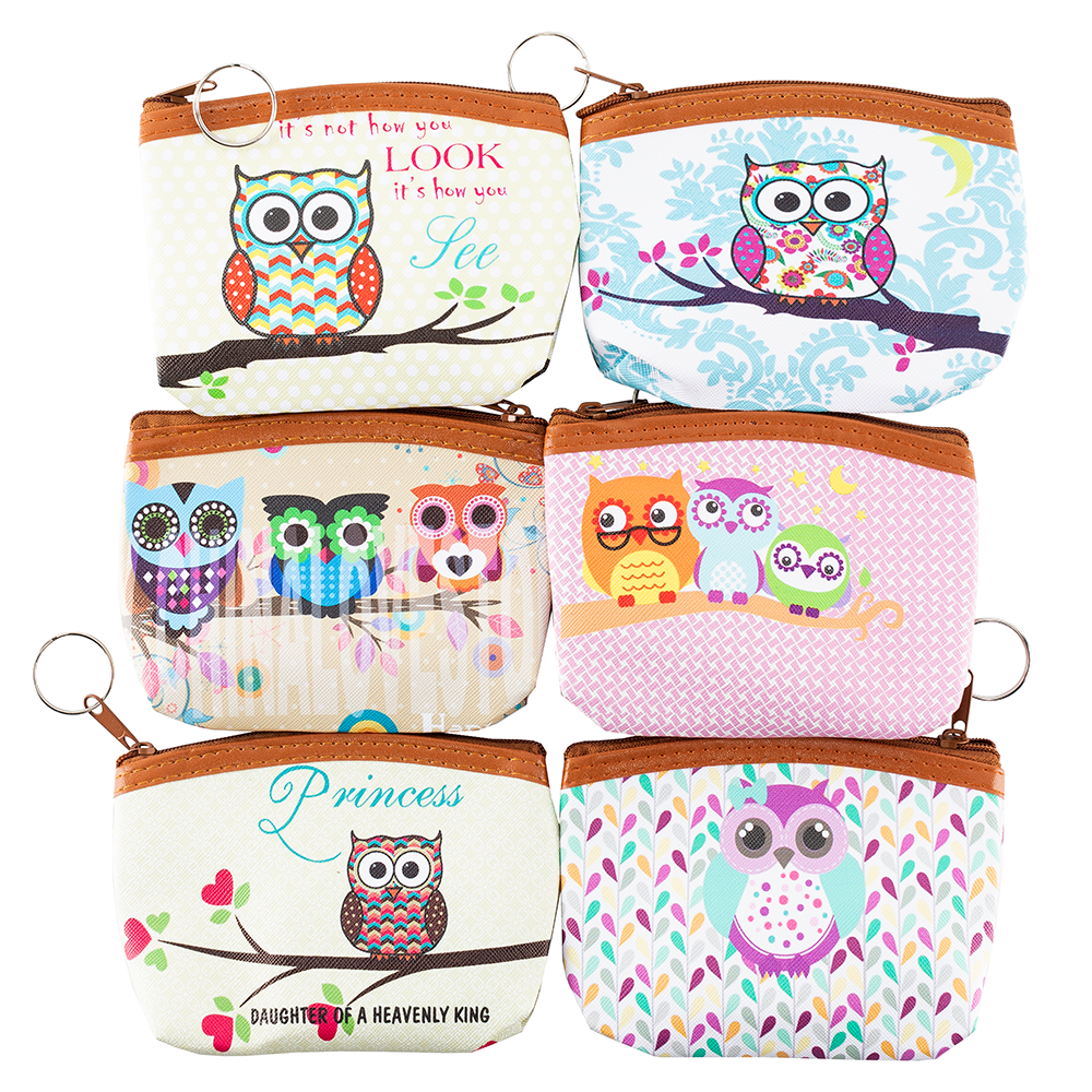 Owl Coin Purse - Bingo Accessories - 12 per pack - Jackpot Bingo Supplies