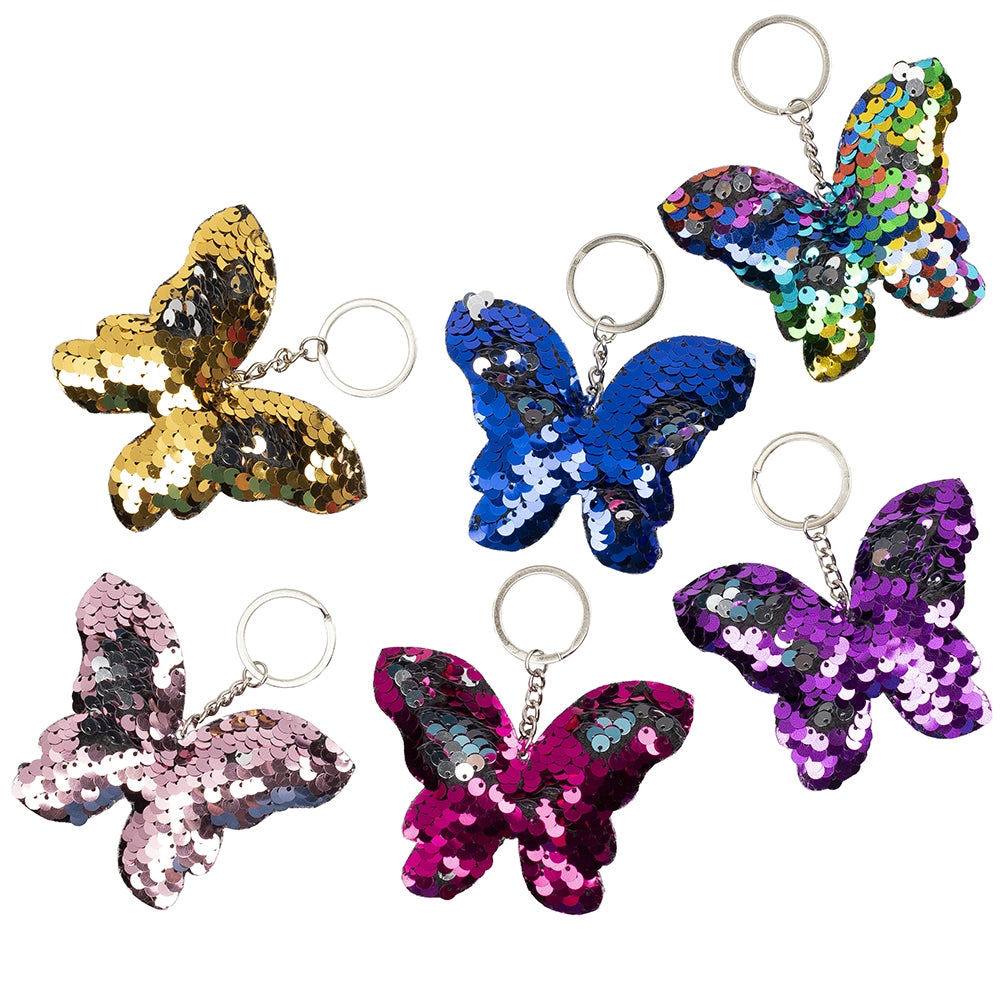 Sequin Butterfly Keychain - Bingo Accessories - 12 per pack - Jackpot Bingo Supplies