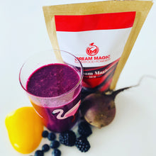Dream Magic Red Powder (containing Flaxseed, Raspberry, Strawberry, Carrot, Beetroot, Coconut Water and Banana)