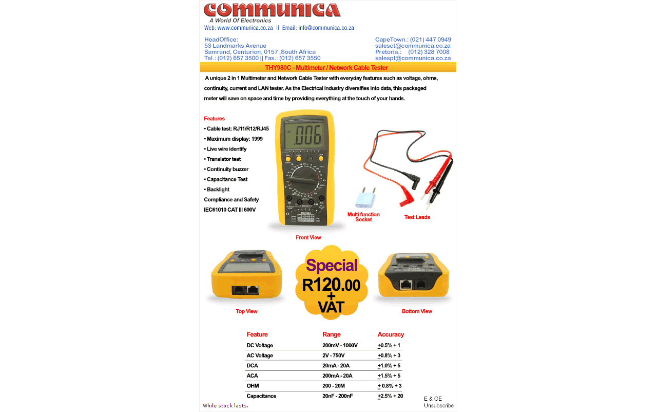 Communica Special - THY980C