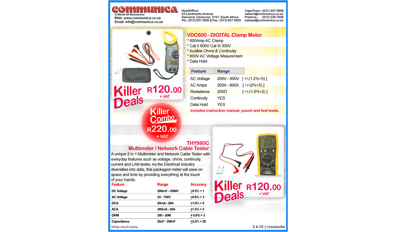 Communica Special - Test Instruments