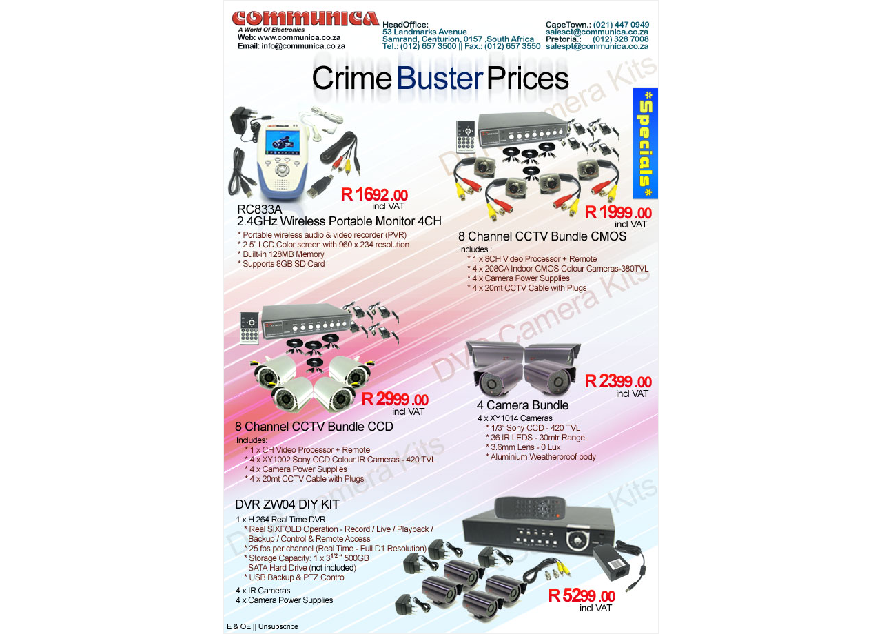 Communica Special - Crime Buster Prices