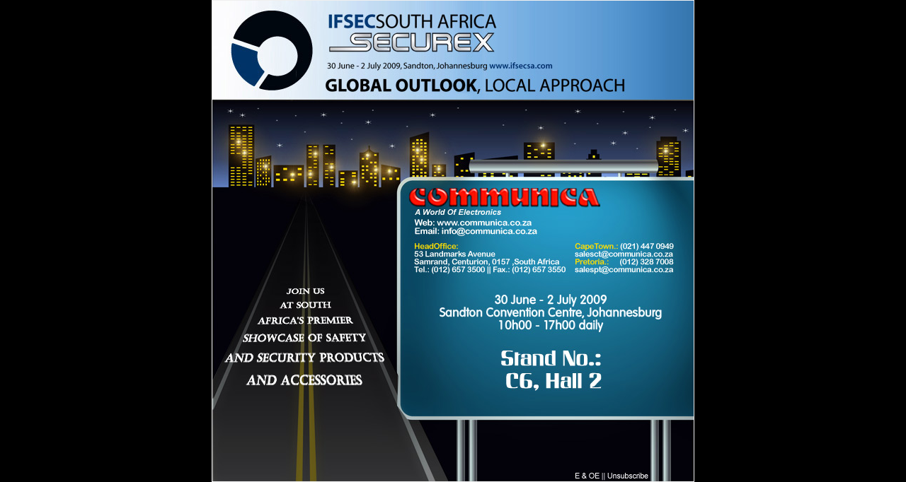 Communica @ IFSEC South Africa,  Securex