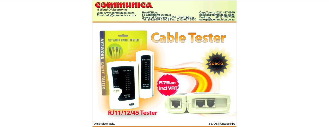 Communica Special - Cable Tester