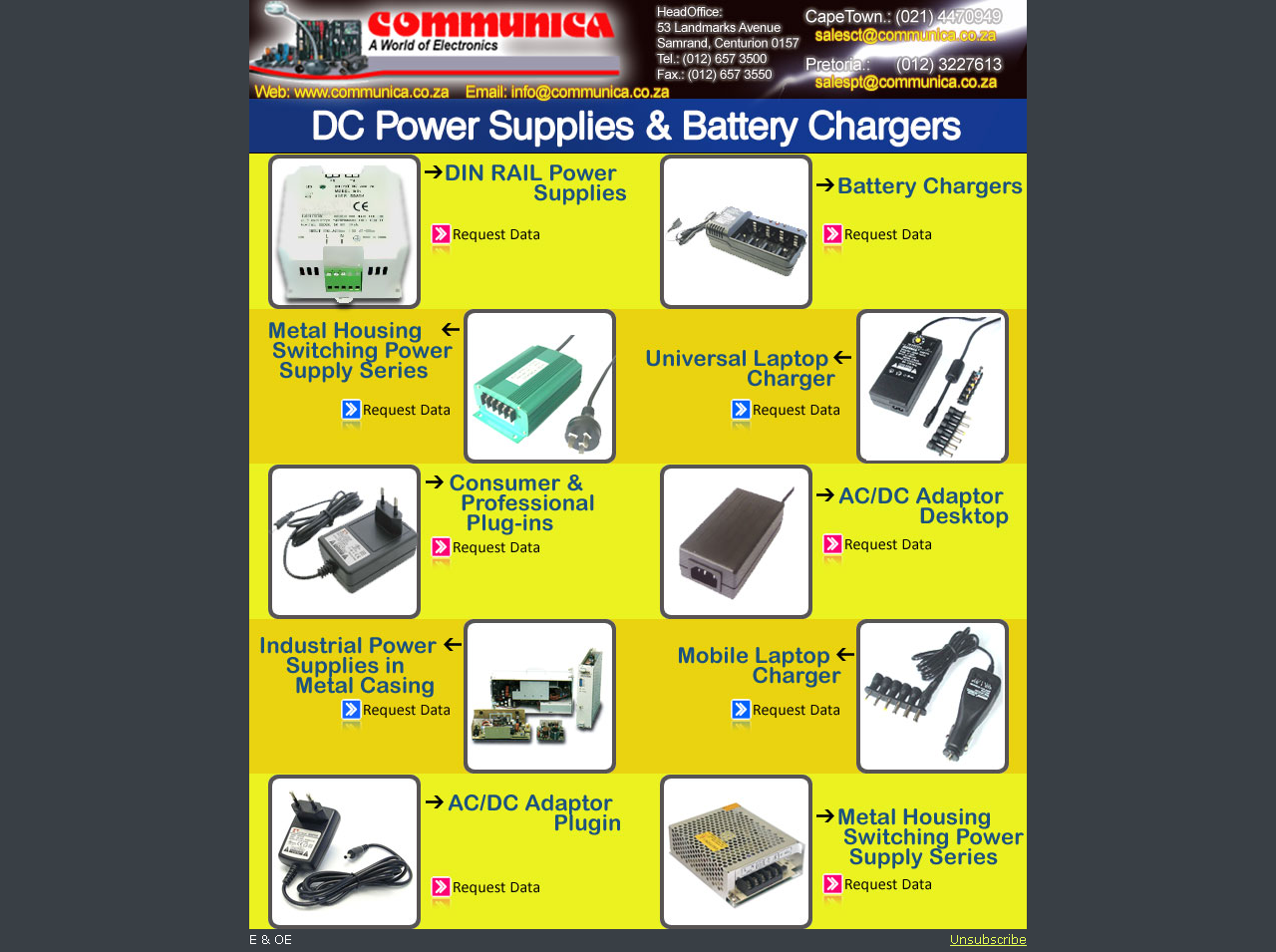 DC Power Supplies & Battery Chargers