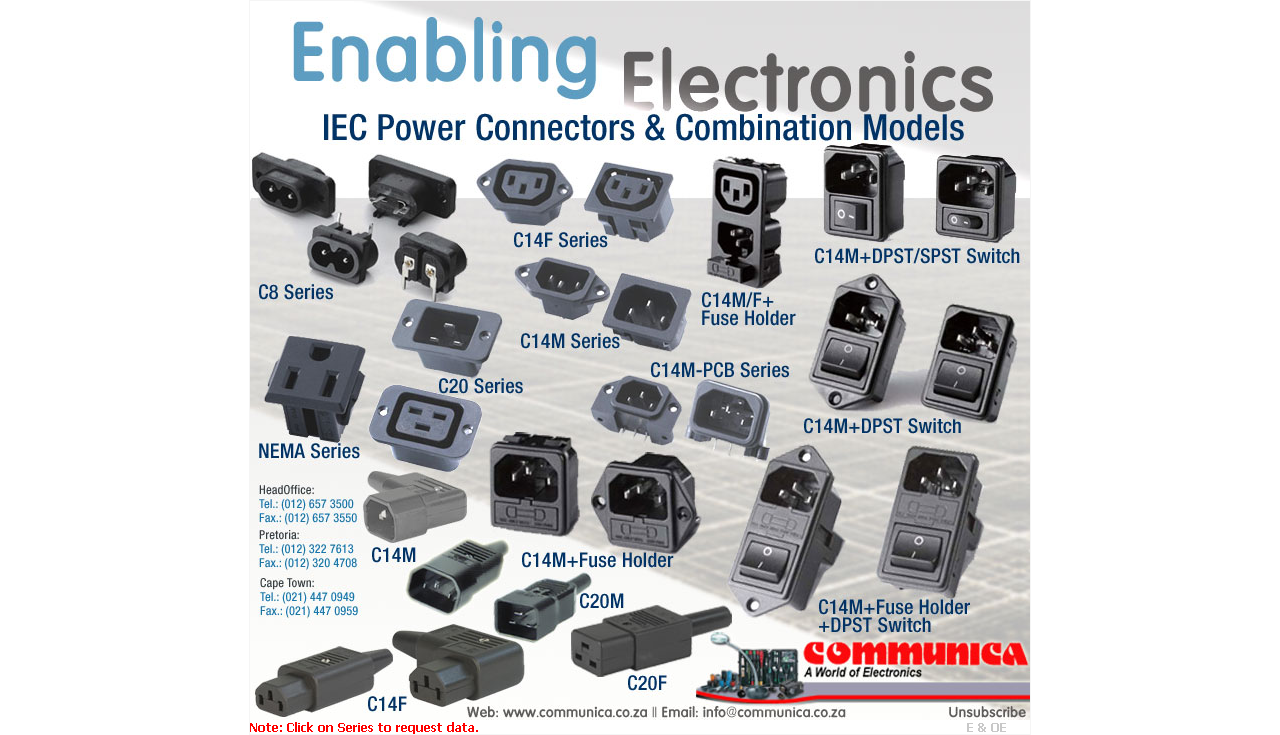 IEC Power Connectors & Combination Models