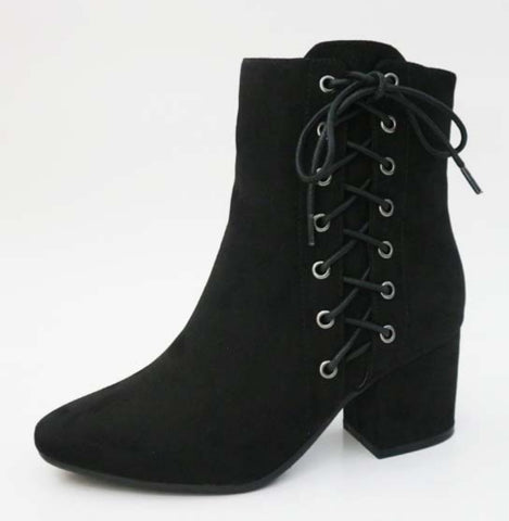 Bamboo Black  Bootie