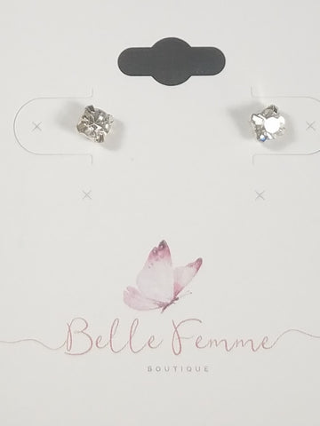 Silver and Diamond Studs