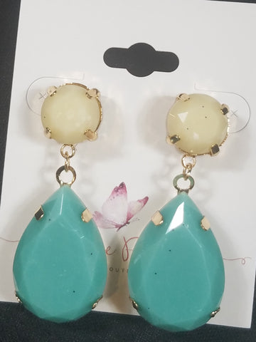 Turquoise / Ivory Earrings