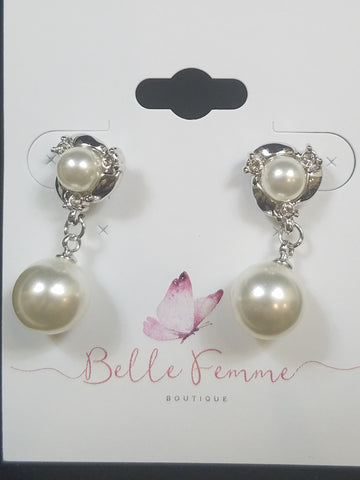 Pearl And Silver Earring