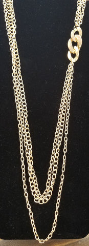 Knot Accent Gold Necklace