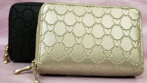 Heart Embossed Wallet