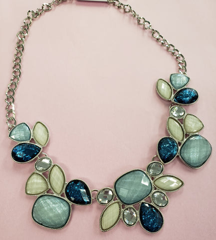 Blue and Sea Mist Necklace