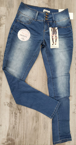 Whiskers 3 Button Skinny Jeans