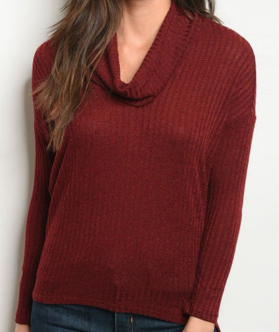 Cowell Neck Sweater/Maroon