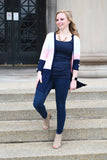 Color Block Striped Cardi