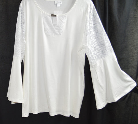Ivory Lace Bell Sleeve Top