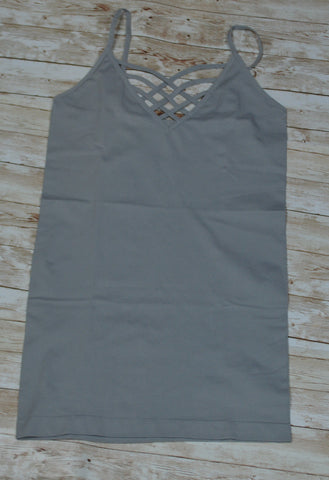 Grey Mist Criss-Cross Cami