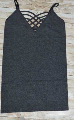 Charcoal Criss-Cross Cami