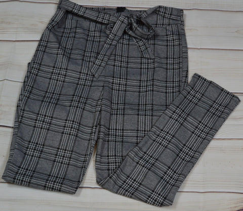 Plaid Tie Pants
