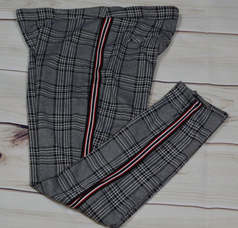 Plaid Pants w/Side Detail