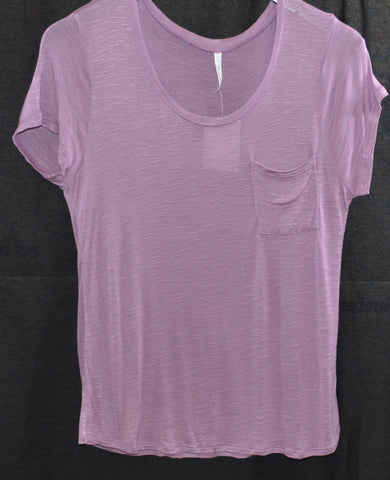 Plum Scoop Neck Pocket Top