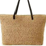 Large Straw Bag - Golden