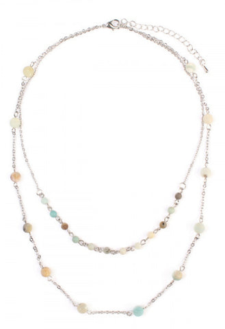Multi Stone Layered Necklace