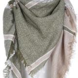 Woven Blanket Scarf - Sage n Gold