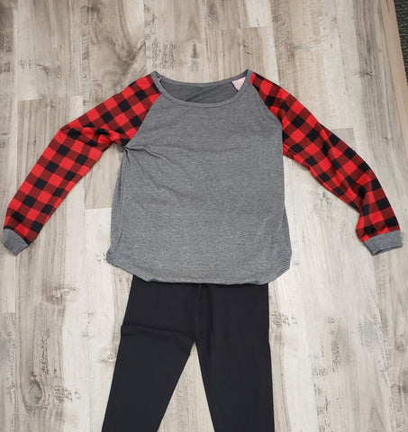 Buffalo Plaid Sleeved Top