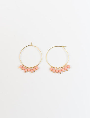 Melah Earrings/ Rose- 31 Bits