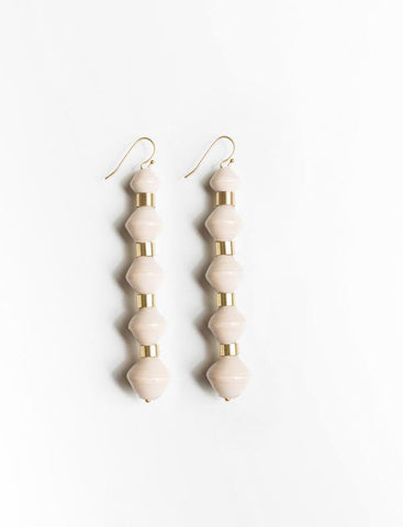 Millie Drop Earrings/Cream - 31 Bits