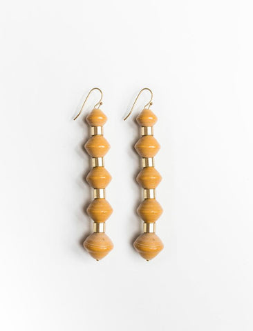 Millie Drop Earrings/ Mustard - 31 Bits
