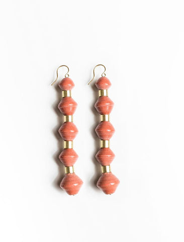 Millie Drop Earrings/ Rust - 31 Bits