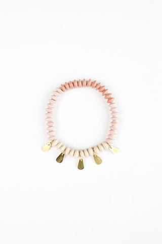 Petal Stretch Bangle/ Rose - 31 Bits