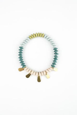 Petal Stretch Bangle - Teal - 31 Bits