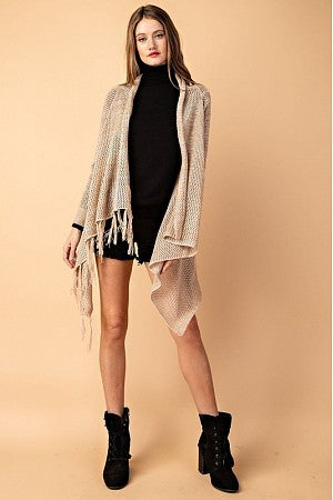 Loose Knit Open Front Cardi