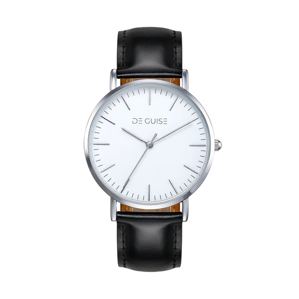 Edison - White face Silver polished De Guise Watch