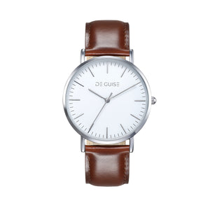 Newton - White face Silver polished De Guise Watch
