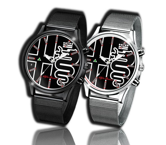 Alfa Romeo Black Logo Kingdom watch