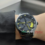 alfa romeo qv quadrifoglio verde yellow calipers wheel watch orologio wristwatch waterproof