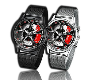Alfa romeo watch Giulia QV Red Wheel Calipers Kingdom burnished steel stelvio quadrifoglio wristwatch orologio