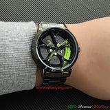 alfa romeo qv 3D wheel black watch wristwatch orologio