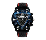 Alfa Romeo Giulia qv quadrifoglio verde carbon grill red stitching silicone band watch watches